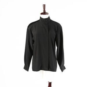 OSCAR DE LA RENTA – Vintage Black Blouse Top – 8
